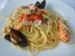 Spaghetti mit Meeresfrüchten Fischrestaurant Gabicce Monte