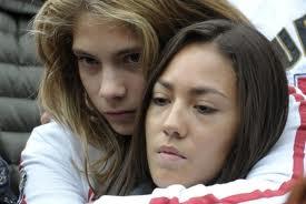 Kate Fretti mit Marco Simoncellis Schwester Martina